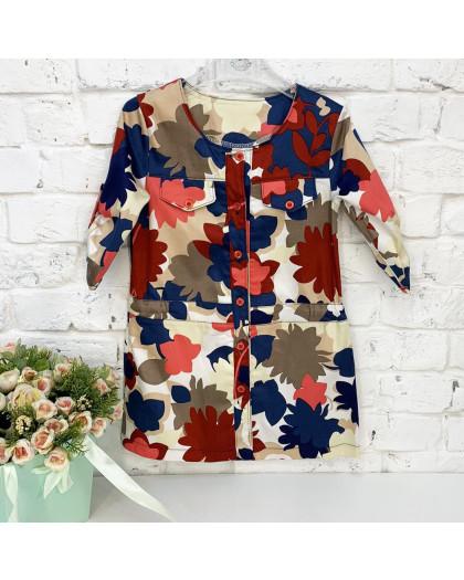 0417 платье цветное на девочку 5-7 лет (3 ед. размеры: 110.116.122) Маленьке сонечко