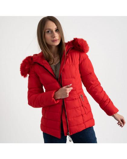 0906-3 красная куртка женская на синтепоне (4 ед. размеры: L.XL.2XL.3XL) Куртка