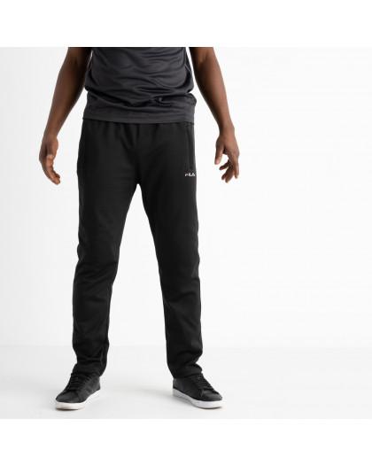 16406-1 черные батальные спортивные брюки из двунитки (4 ед. размеры: 56.58.60.62) Спортивные штаны