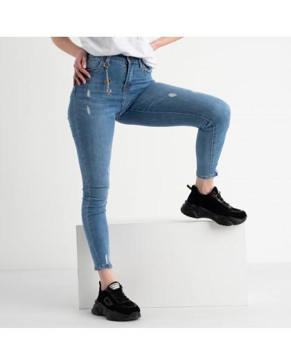 0623 New Jeans американка голубая стрейчевая  (6 ед. размеры: 25.26.27.28.29.30) New Jeans