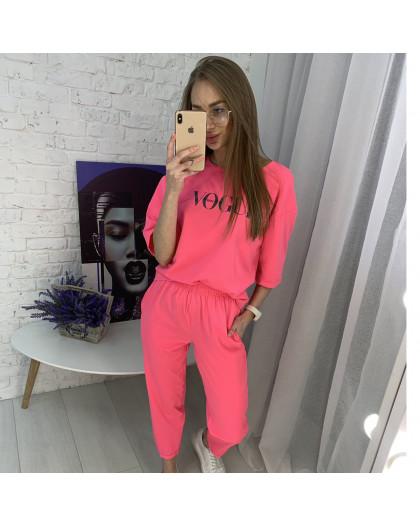9008-2 розовый спортивный костюм женский батальный ( 5 ед. размеры: 46.48.50.52.54)  Спортивный костюм