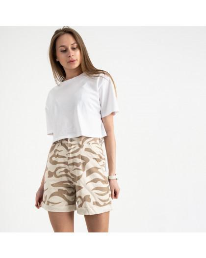 5556 шорты белые с рисунком котоновые (8 ед. размеры: 25/2.26/3.28/2.30) Шорты