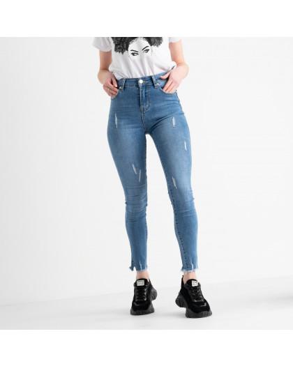 0616 New Jeans американка голубая стрейчевая  (6 ед. размеры: 25.26.27.28.29.30) New Jeans
