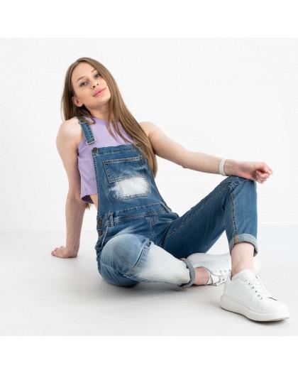 3333-1 Relucky комбинезон джинсовый голубой стрейчевый (6 ед. размеры: 25.26.27.28.29.30)  Relucky