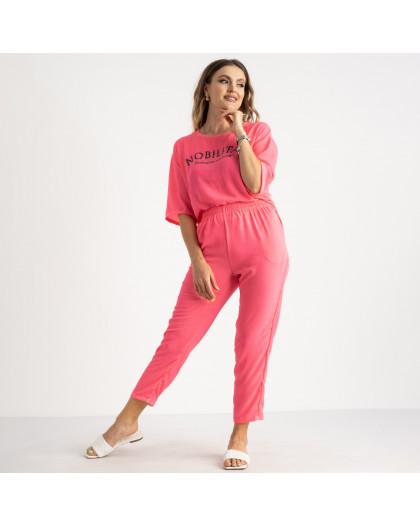 9005-2 розовый спортивный костюм женский полубатальный ( 5 ед. размеры: 46.48.50.52.54) отправка 21.06 Спортивный костюм