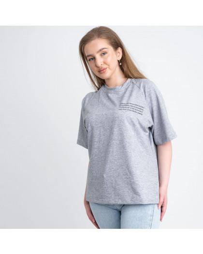 2220-6 Mishely футболка серая женская батальная из двунитки ( 4 ед. размеры: 50.52.54.56) Mishely