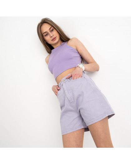 8028-1 шорты женские лиловые котоновые (8 ед. размеры:25/2.26/3.28/2.30) Шорты