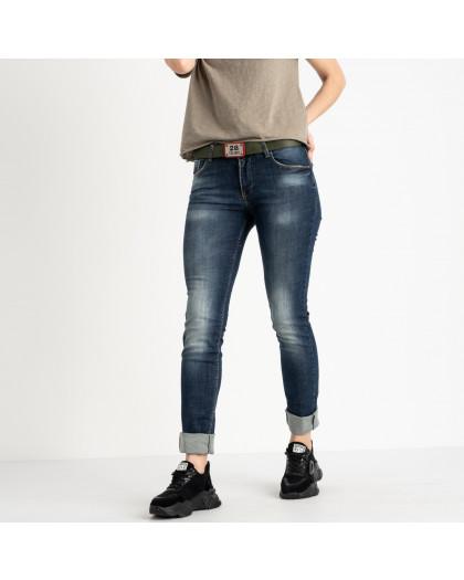 9095-B-520 Colibri джинсы полубатальные женские темно-синие стрейчевые (6 ед. размеры: 28.29.30.31.32.33) Colibri