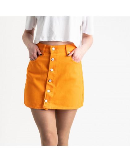 2854-1 XRay юбка на пуговицах оранжевая котоновая (6 ед. размеры: 34.34.36.36.38.40) XRAY