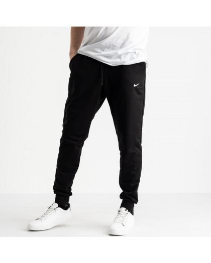 1621-11 Mishely черные мужские спортивные штаны из двунитки (4 ед. размеры: M.L.XL.2XL) Mishely
