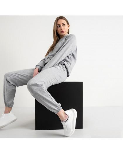 15222-2 серый женский спортивный костюм из двунитки (4 ед. размеры: S.M.L.XL) Mishely