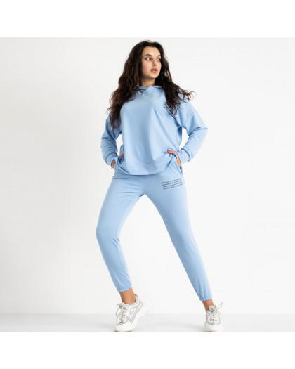 15115-121 Mishely голубой женский спортивный костюм из двунитки  (3 ед. размеры: M.L.XL) Mishely
