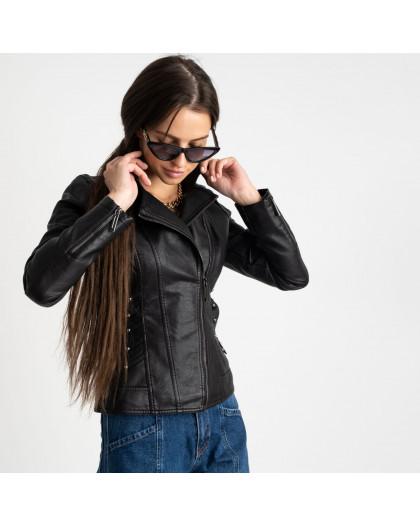 2009 куртка-косуха черная женская из кожзама (5 ед. размеры: S.M.L.XL.XXL)  Куртка