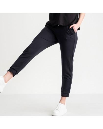 15012 темно-синие брюки женские спортивные из двунитки (4 ед. размеры: 42.44.46.48) Спортивные штаны
