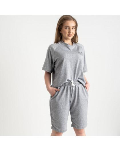 2215-6 Mishely серый женский спортивный костюм батальный из двунитки  (4 ед. размеры: 50.52.54.56) Mishely