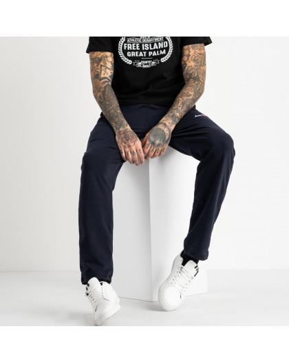 16402-5 синие спортивные брюки из двунитки (5 ед. размеры: 46.48.50.52.54) Спортивные штаны