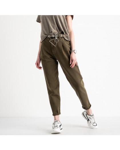 0460 Whats up 90s джинсы-балоны женские хаки котоновые (5 ед. размеры: 26.27.28.29.30) Whats up 90s