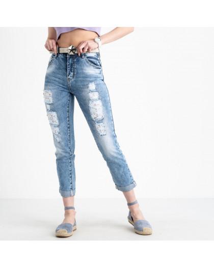 1302 Lady N джинсы женские голубые котоновые ( 6 ед. размеры: 25.26.27.28.29.30) Lady N