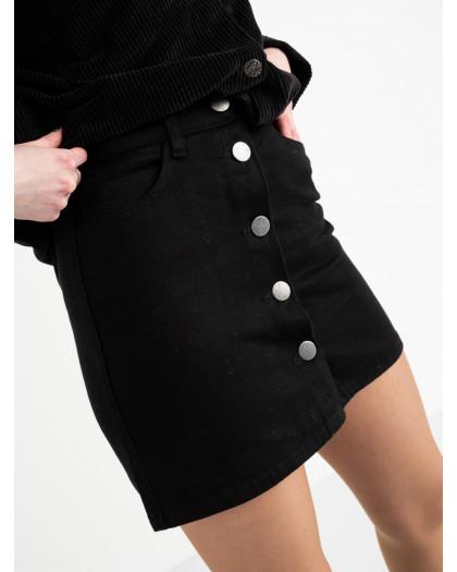 0200 Defile юбка джинсовая черная котоновая  (7 ед. размеры: 34.34.36.36.38.38.40) Defile