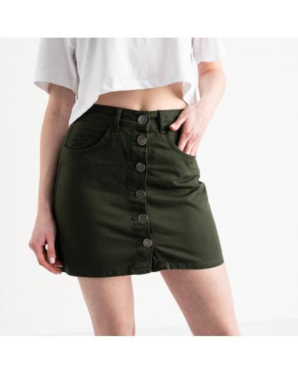 0200-3 Defile юбка на пуговицах хаки котоновая (6 ед. размеры: 34.36.36.38.38.40) Defile