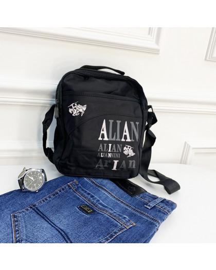1108 черная сумка мужская наплечная (5 ед.) Сумка