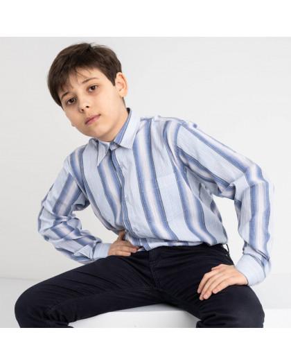 1901 Boston Public голубая рубашка в полоску на мальчика 7-15 лет (5 ед. размеры: 30/31.32/33.33/34.34/35.35/36) Boston Public