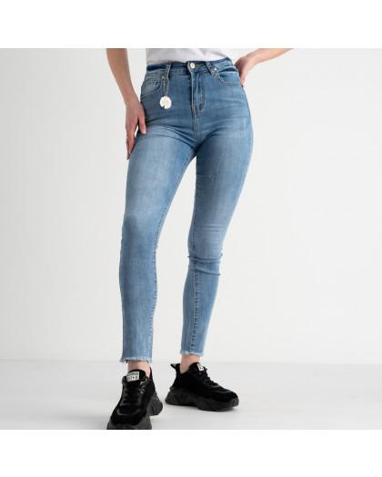 0646 New Jeans американка голубая стрейчевая  (6 ед. размеры: 25.26.27.28.29.30) New Jeans