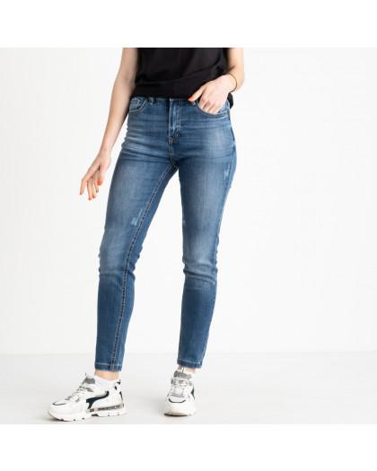 0503-6 A Relucky джинсы полубатальные женские синие стрейчевые (6 ед. размеры: 28.29.30.31.32.33) Relucky