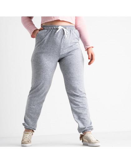 14870-4 Mishely серые брюки женские спортивные батальные стрейчевые (4 ед. размеры: 50.52.54.56) Mishely