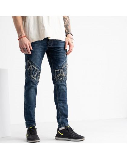 2423 Quartz джинсы мужские синие стрейчевые (8 ед. размеры: 29.30.31.32.32.33.34.36) Quartz