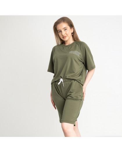 2215-3 Mishely хаки женский спортивный костюм батальный из двунитки  (4 ед. размеры: 50.52.54.56) Mishely