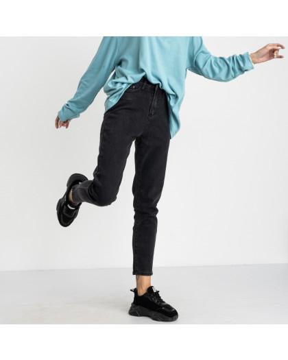5017 New Jeans мом женский серый стрейчевый (6 ед. размеры: 25.26.27.28.29.30) New Jeans