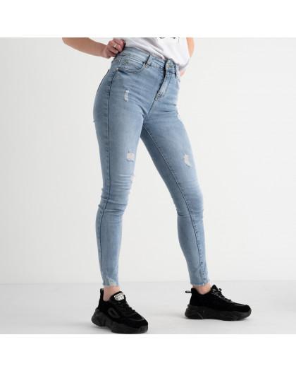 0629 New Jeans американка голубая стрейчевая  (6 ед. размеры: 25.26.27.28.29.30) New Jeans