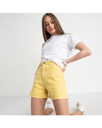 3374-6 Defile желтые шорты джинсовые котоновые ( 6 ед. размеры: 34.36/2.38/2.40) Defile