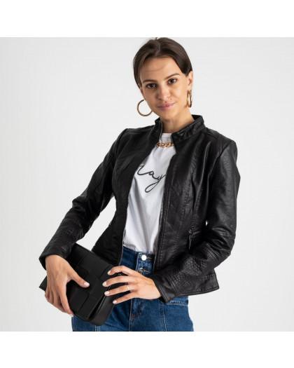 2015 куртка черная женская из кожзама (5 ед. размеры: S.M.L.XL.XXL)  Куртка