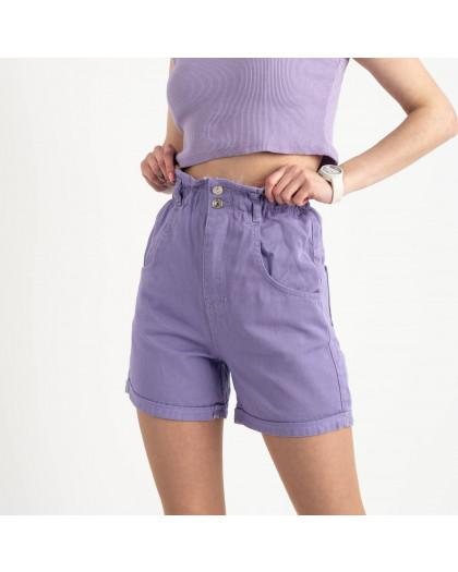 3377 шорты джинсовые сиреневые котоновые  ( 8 ед. размеры: 25/2.26/3.28/2.30 ) Шорты