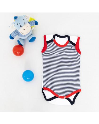 17073 Emotion kids белый в синюю полоску боди на мальчика 3-12 мес. (6 ед. размеры: 68.68.74.74.80.80) Emotion kids
