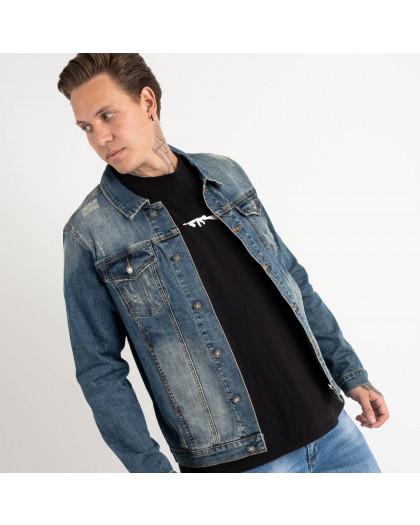 1002 Fang джинсовая куртка темно-синяя стрейчевая (5 ед. размеры: L.XL.2XL.3XL.4XL) Fang
