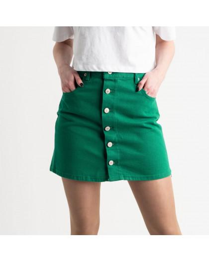2854-3 XRay юбка на пуговицах зеленая котоновая (6 ед. размеры: 34.34.36.36.38.40) XRAY