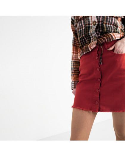 0402-3 Arox юбка джинсовая красная котоновая (3 ед. размеры: 34.36.38) Arox