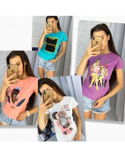 3704-99 футболка женская микс  моделей и цветов без выбора цветов (20 ед. размеры: универсал 42-44) МИКС