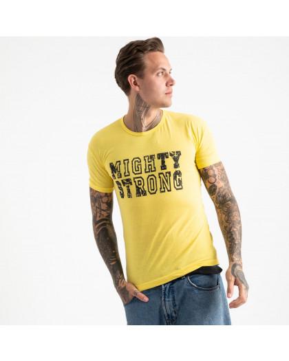 2611-6 желтая футболка мужская с принтом (4 ед. размеры: M.L.XL.2XL) Футболка