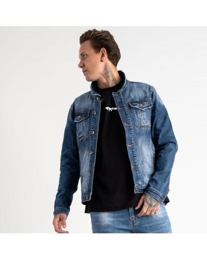 1001 Fang джинсовая куртка синяя стрейчевая (5 ед. размеры: L.XL.2XL.3XL.4XL) Fang