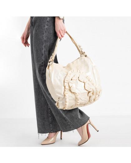 86167 бежевая сумка из эко кожи  (5 ед )  Сумка