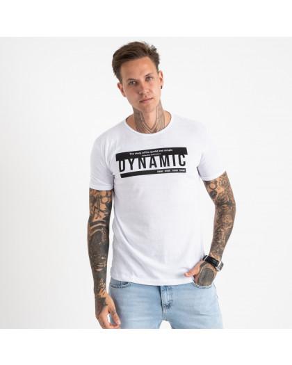 2713-10 белая футболка батальная мужская с принтом (4 ед. размеры: XL.2XL.3XL.4XL) Футболка