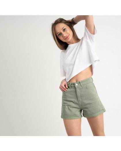3405 шорты джинсовые оливковые котоновые ( 8 ед. размеры: 25/2.26/3.28/2.30) Шорты