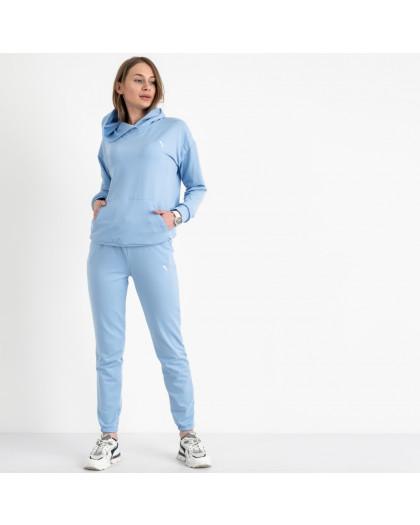 15222-10 Mishely голубой женский спортивный костюм из двунитки (4 ед. размеры: S.M.L.XL) Mishely