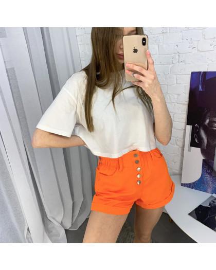 3373-3 Defile шорты джинсовые оранжевые котоновые ( 6 ед. размеры: 34.36/2.38/2.40) Defile
