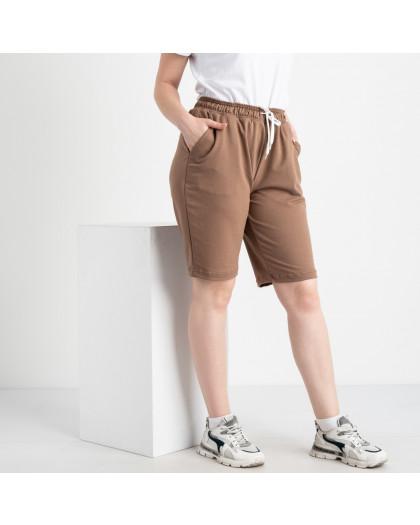 2230-9 Mishely шорты мокко женские батальные из двунитки ( 4 ед. размеры: 50.52.54.56) Mishely