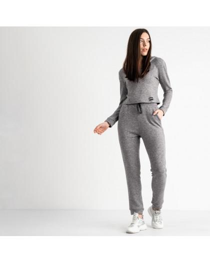 0545-2 серый спортивный костюм женский из двунитки (4 ед. размеры: 48.50.52.54) Спортивный костюм